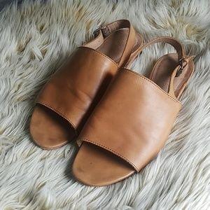 Madewell Noelle Leather Slingback Sandal Sz 8